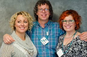 Robin Sjblom Curly Hair Artist of the Year 2015, Scott Musgrave, and Kelly E. Anker.