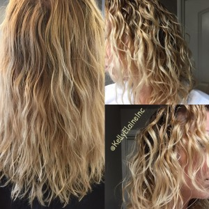 Jessica with Innersense Organics before and after heat treatment using Color Radiance Daily Conditioner.