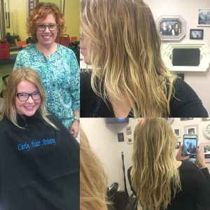 Our S'wavy model, barely there movement to real beach waves! #noperm Only Olaplex! by: Kelly E. Anker