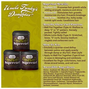 Super Curl~Uncle Funky's Daughter Now at Kelly Elaine Inc. A curly hair Salon and such.
