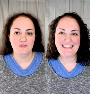 Stefanie, Before & After her makeover!