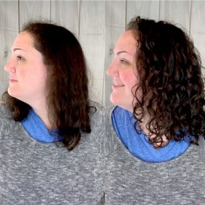 Side view of Stefanie's Before & After!